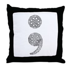 Patterned Semicolon Throw Pillow