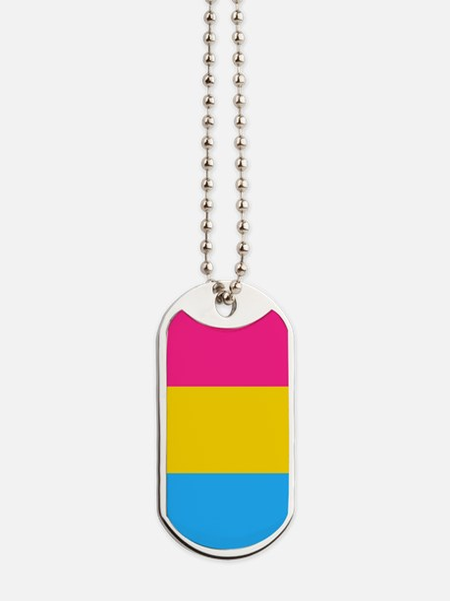 Pansexual Pride Flag Dog Tags