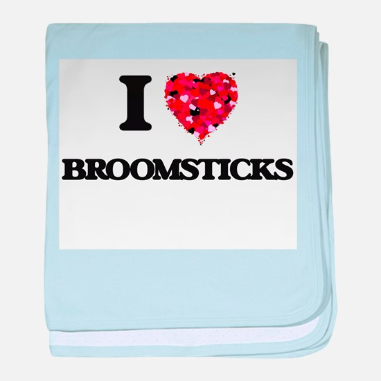 I Love Broomsticks baby blanket