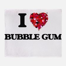 I Love Bubble Gum Throw Blanket