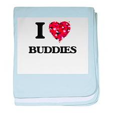 I Love Buddies baby blanket