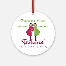 Pregnancy Friends Ornament (Round)