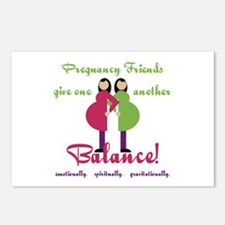 Pregnancy Friends Postcards (Package of 8)