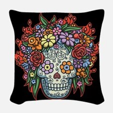 Mujere Muerta II Woven Throw Pillow