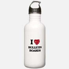 I Love Bulletin Boards Water Bottle