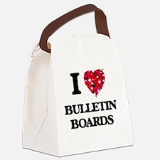 I Love Bulletin Boards Canvas Lunch Bag