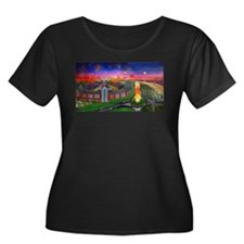 The Jones Beach Theatre and Fireworks Plus Size T-