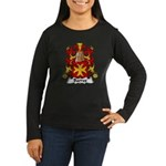 Barres Family Crest Women's Long Sleeve Dark T-Shi