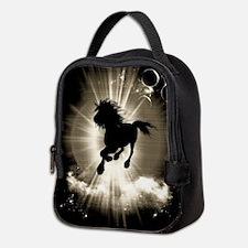 Horse silhouette Neoprene Lunch Bag