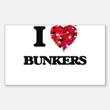 I Love Bunkers Decal