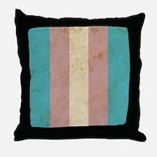 Vintage Transgender Pride Throw Pillow