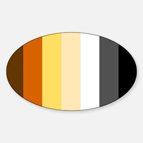 Bear Pride Flag Sticker (Oval)