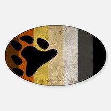 Vintage Bear Pride Flag Decal