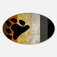 Vintage Bear Pride Flag Sticker (Oval)