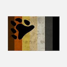 Vintage Bear Pride Fla Rectangle Magnet (100 pack)