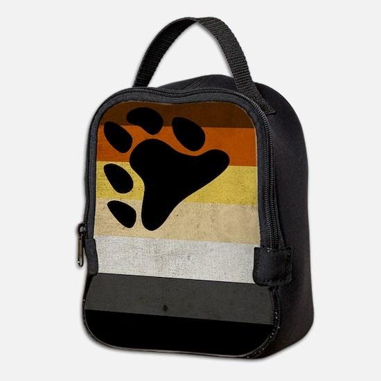 Vintage Bear Pride Flag Neoprene Lunch Bag
