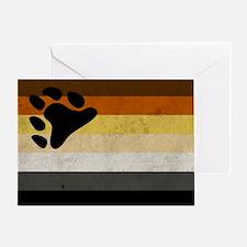 Vintage Bear Pride Flag Greeting Card