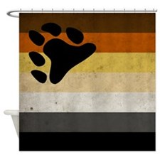 Vintage Bear Pride Flag Shower Curtain