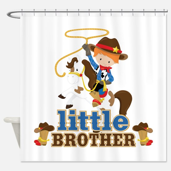 Cowboy Little Brother Shower Curtain