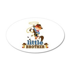 Cowboy Little Brother Wall Decal