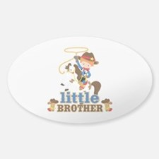 Cowboy Little Brother Sticker (Oval)