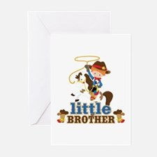 Cowboy Little Brother Greeting Cards (Pk of 20)