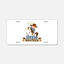 Cowboy Little Brother Aluminum License Plate