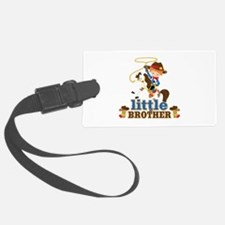 Cowboy Little Brother Luggage Tag
