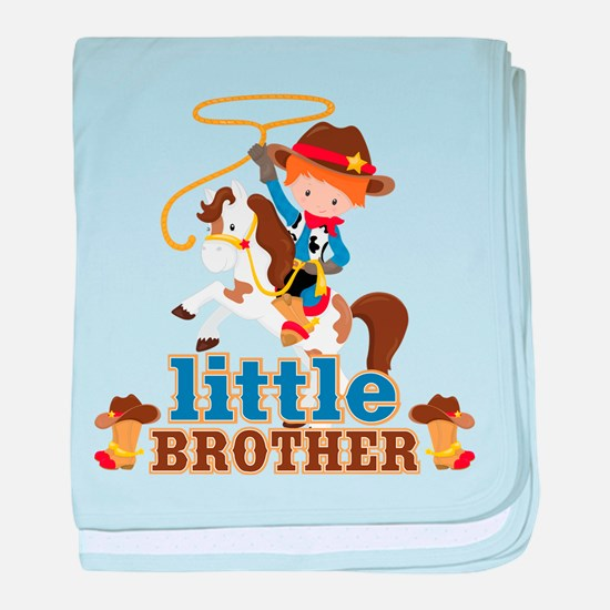 Cowboy Little Brother baby blanket