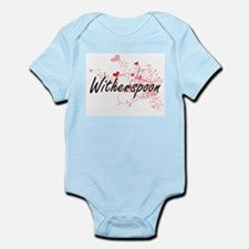 Witherspoon Artistic Design with Hearts Body Suit