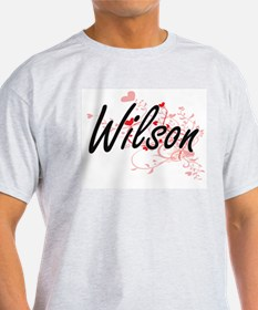 Wilson Artistic Design with Hearts T-Shirt