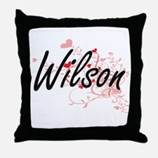 Wilson Artistic Design with Hearts Throw Pillow