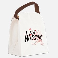 Wilson Artistic Design with Heart Canvas Lunch Bag