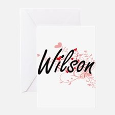 Wilson Artistic Design with Hearts Greeting Cards