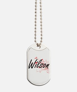 Wilson Artistic Design with Hearts Dog Tags