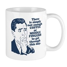 Coffee And The Middle Finger Small Small Mug