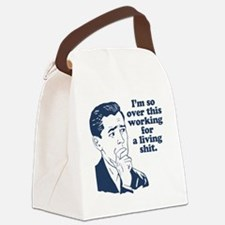 So Over It Canvas Lunch Bag
