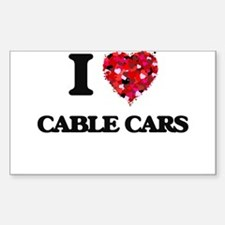 I love Cable Cars Decal