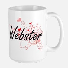 Webster Artistic Design with Hearts Mugs
