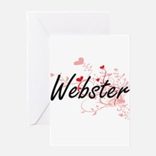 Webster Artistic Design with Hearts Greeting Cards
