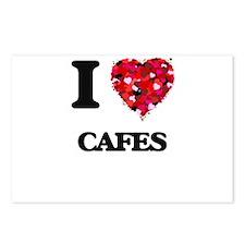 I love Cafes Postcards (Package of 8)