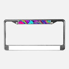 PowerFractal blue License Plate Frame