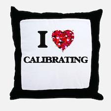 I love Calibrating Throw Pillow