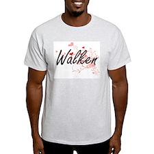 Walken Artistic Design with Hearts T-Shirt