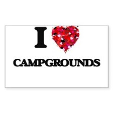 I love Campgrounds Decal
