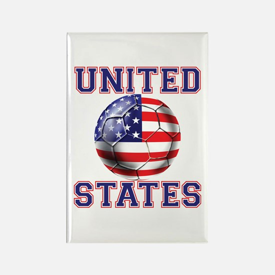 USA Soccer Rectangle Magnet