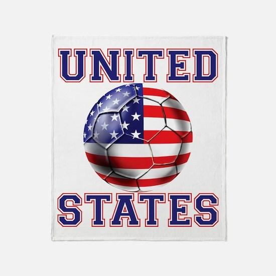 USA Soccer Throw Blanket