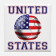 USA Soccer Tile Coaster