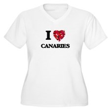 I love Canaries Plus Size T-Shirt