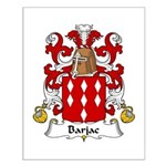 Barjac Family Crest Small Poster